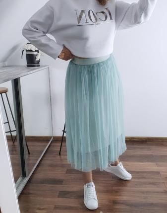 miętowa spódniczka tiulowa