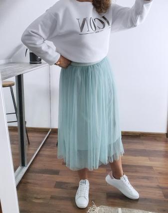 miętowa spódniczka tiulowa 2