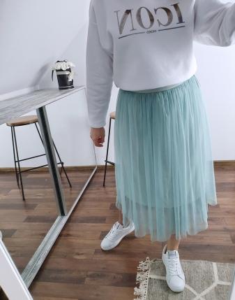 miętowa spódniczka tiulowa 3