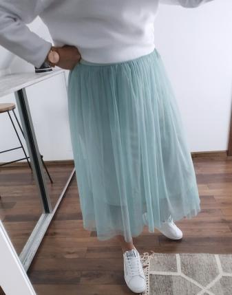 miętowa spódniczka tiulowa 4