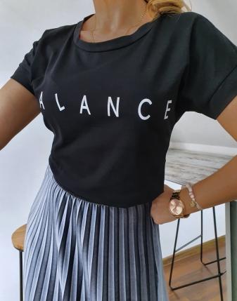 T-shirt czarny balance 5