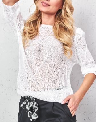 bluzka ażurowa biała 2