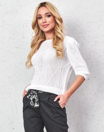 bluzka ażurowa biała 3