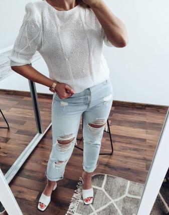 bluzka ażurowa biała 32