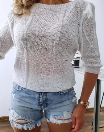 bluzka ażurowa biała 31