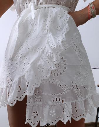 sukienka ażurowa biała  4