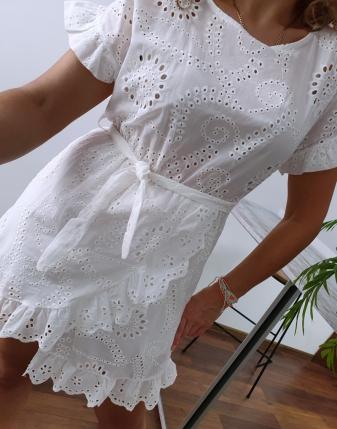 sukienka ażurowa biała 5