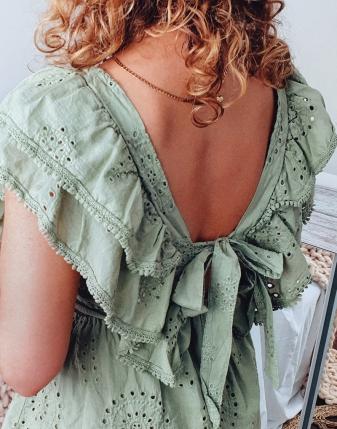 sukienka ażurowa khaki 4