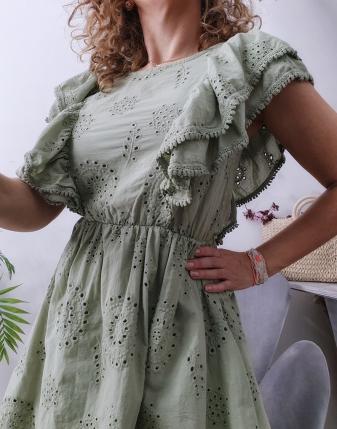 sukienka ażurowa khaki 6
