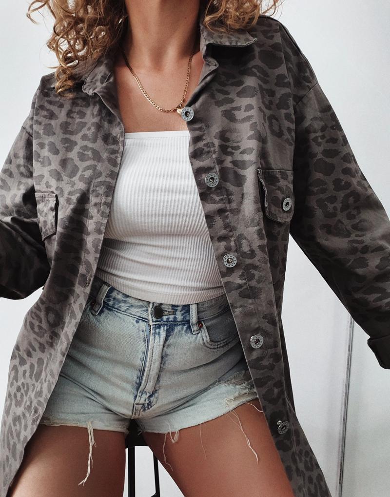 koszula dżinsowa w panterkę