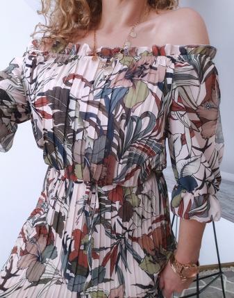 sukienka plisowana w kwiaty i liście 6