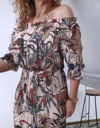 sukienka plisowana w kwiaty i liście 10
