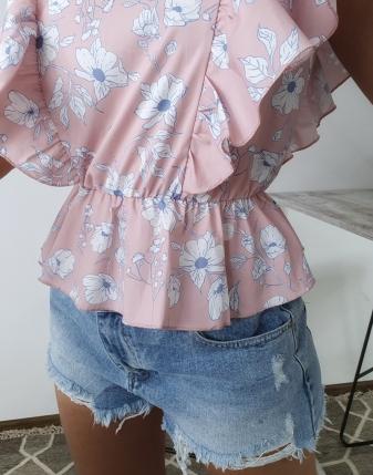 satynowa bluzka w kwiatki2