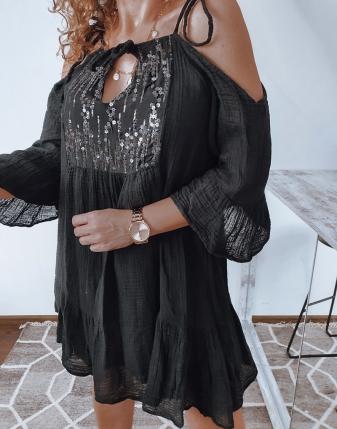 sukienka muślinowa czarna2