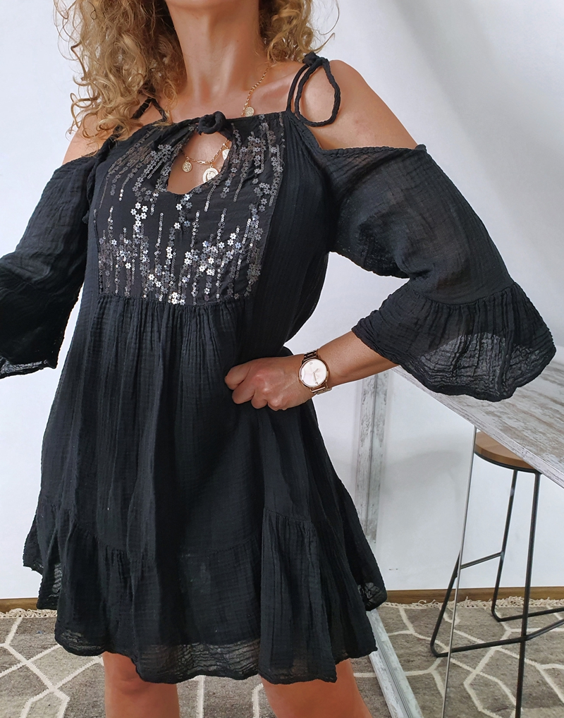 sukienka muślinowa czarna6
