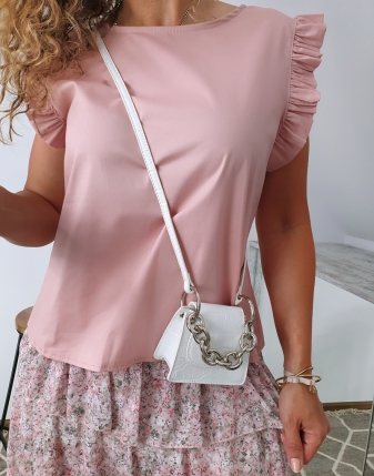 bluzka płócienna puder róż8