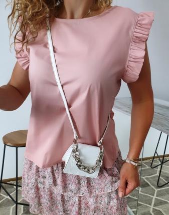 bluzka płócienna puder róż 9