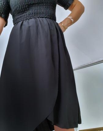 czarna sukienka marszczona4