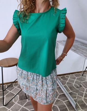 bluzka płócienna zielona 3