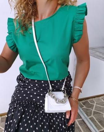 bluzka płócienna zielona 10