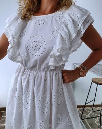 sukienka biała z falbanami 2