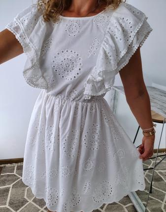 sukienka biała z falbanami 3