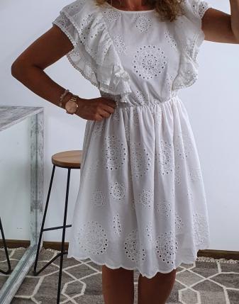 sukienka biała z falbanami 5