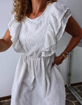 sukienka biała z falbanami 11