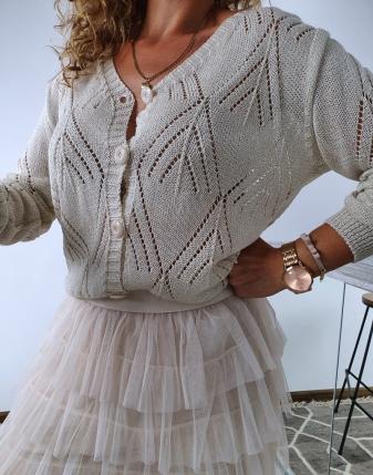 sweterek ażurowy rozpinany 1