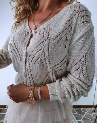 sweterek ażurowy rozpinany 3