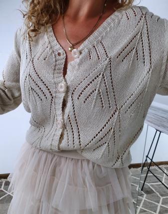 sweterek ażurowy rozpinany 4