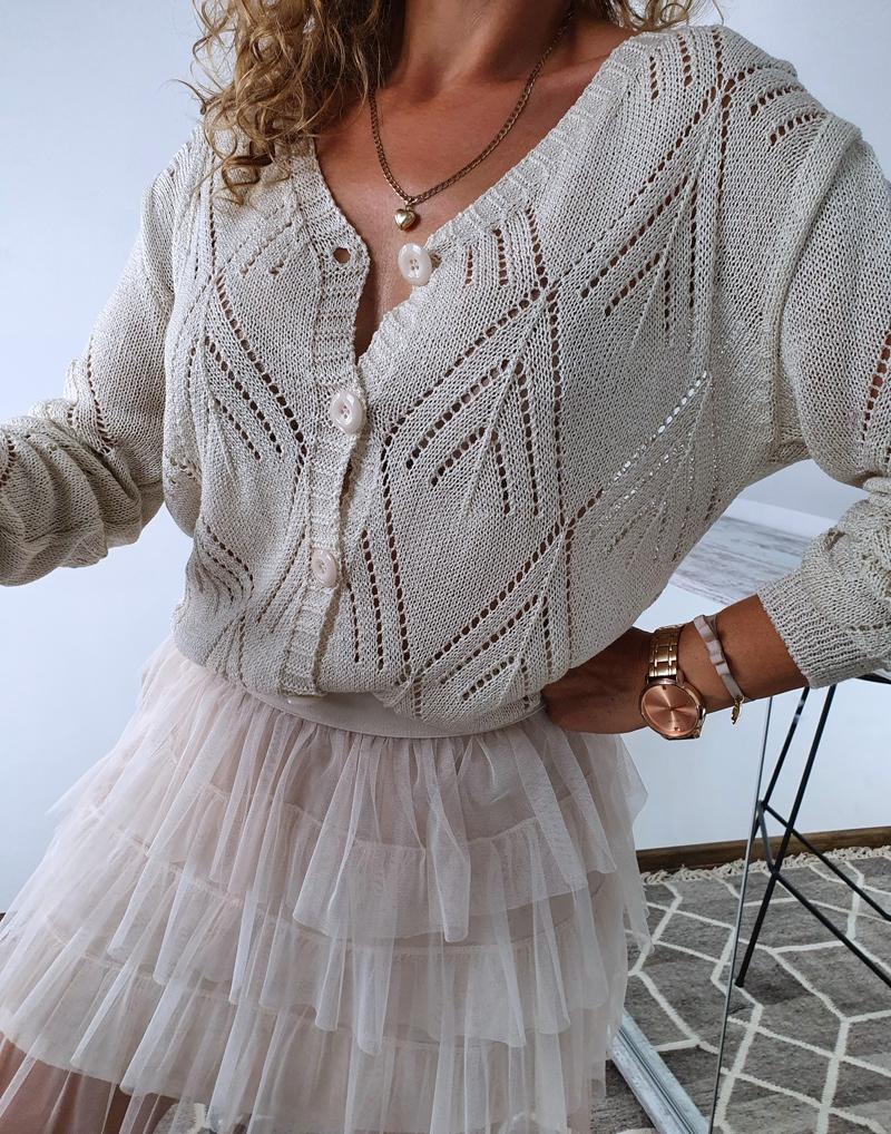 sweterek ażurowy rozpinany 7