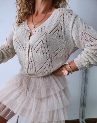 sweterek ażurowy rozpinany 8