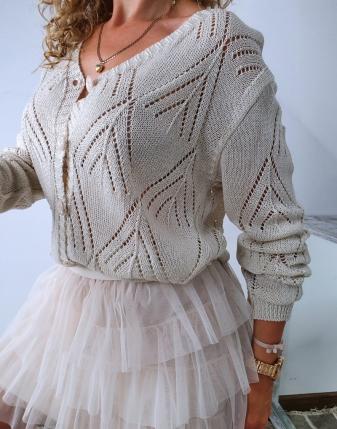 sweterek ażurowy rozpinany 10