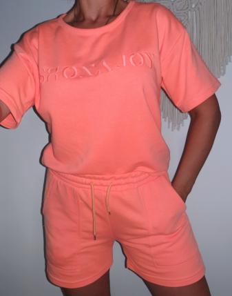 komplet dresowy neon orange 1