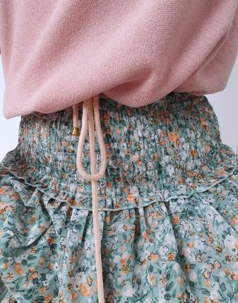 bluzka sweterkowa puder róż