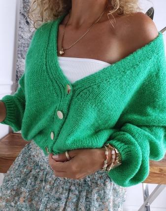 sweter oversize zielony