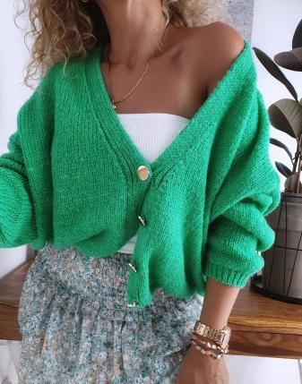 sweter oversize zielony 1