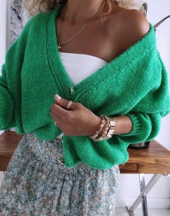 sweter oversize zielony 2