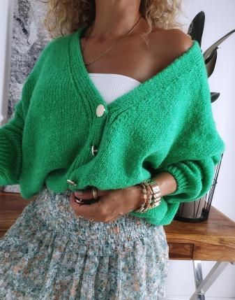 sweter oversize zielony 3