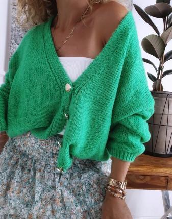 sweter oversize zielony 4