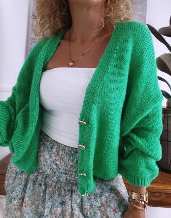 sweter oversize zielony 5