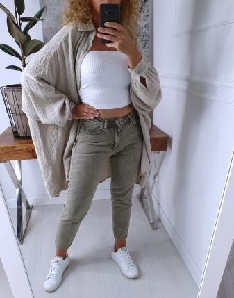 jeansy mom fit khaki 12