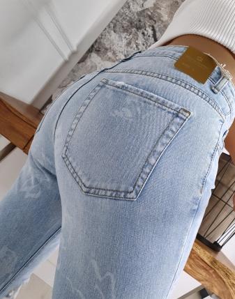 spodnie boyfriend z dziurami dżinsy  5