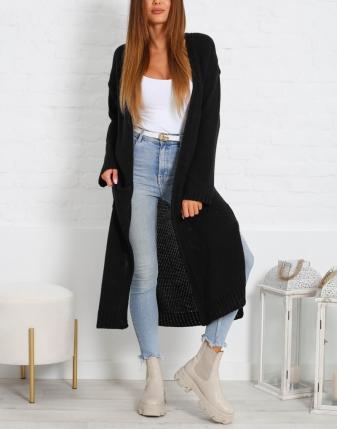 długi sweter czarny 2
