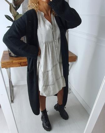 długi sweter czarny 3