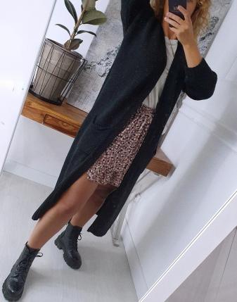 długi sweter czarny 5
