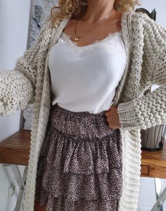 gruby sweter długi jasny  6