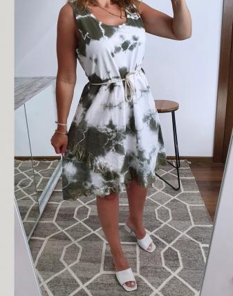 sukienka biało khaki 3