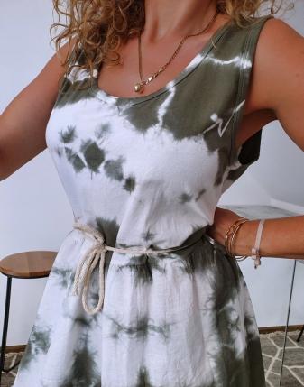 sukienka biało khaki 4
